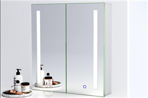 New design LED mirror cabinet SM014